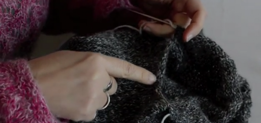 Courchevel Cardi KAL - Picking Up Stitches for the Sleeves