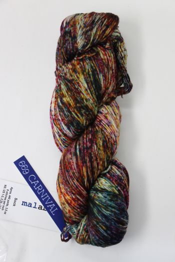 Malabrigo Sock Yarn in Carnival (669)