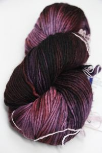 MALABRIGO WORSTED MERINO Yarn Velvet Grapes 204