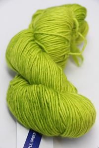 MALABRIGO WORSTED MERINO Yarn APPLE GREEN