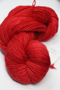 Malabrigo worsted merino in Vermillion 024