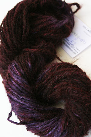 Malabrigo hand-dyed Angora Yarn in Velvet Grapes
