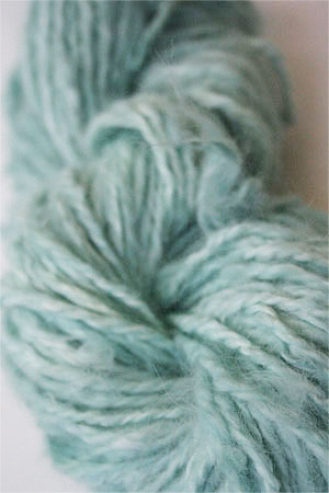 Malabrigo hand-dyed Angora Yarn in Water Green