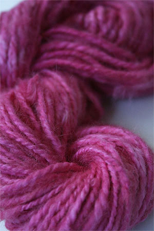 Malabrigo hand-dyed Angora Yarn in Shocking Pink