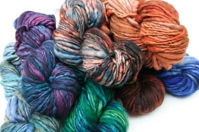 malabrigo Rasta Bulky Merino Wool knitting yarn in beautiful kettle dyed colors