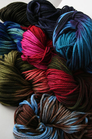 malabrigo Chunky Bulky Merino Wool knitting yarn in beautiful kettle dyed colors