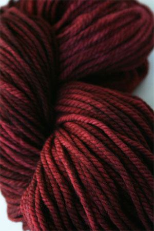 malabrigo chunky yarn in 037 burgandy