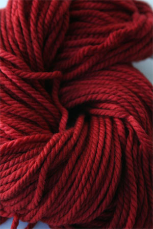 malabrigo chunky yarn in 037 sealing wax