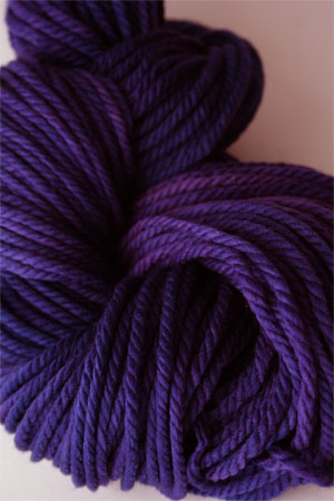 malabrigo chunky yarn in 030 Purple Mystery