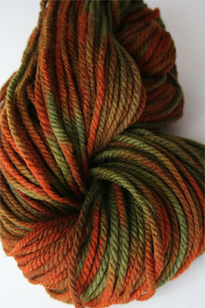 malabrigo chunky yarn in 224 Autumn Forest