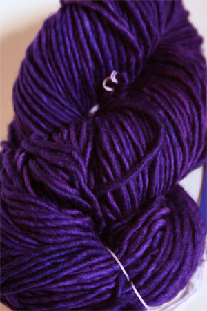 Malabrigo Mecha Yarn in Dewberry