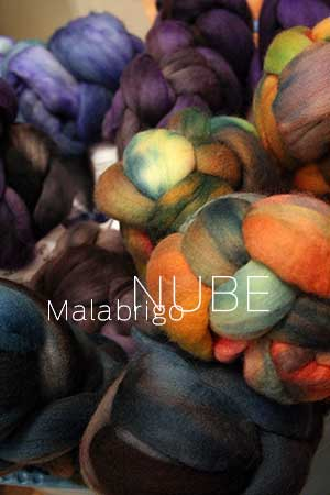 malabrigo NUBE Merino Wool Roving in beautiful kettle dyed colors