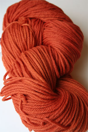 Malabrigo Rios Glazed Carrot worsted Weight Superwash Merino Wool yarn