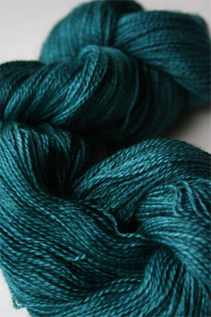 Malabrigo Baby Silkpaca lace yarn 412 Teal Feather