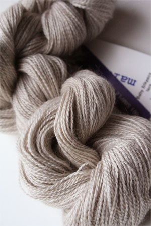 Malabrigo Baby Silkpaca lace yarn 601 Simple Taupe