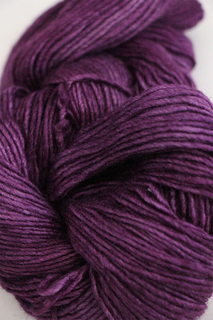 Malabrigo Silky Merino Knitting Yarn In Blackberry
