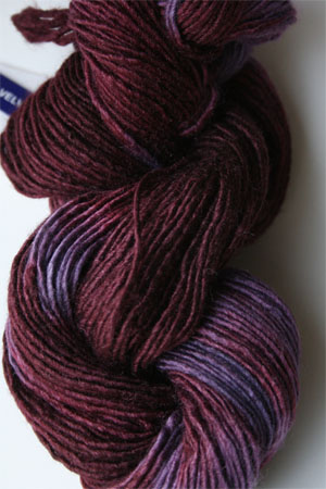 Malabrigo Silky Merino yarn in Velvet Grapes