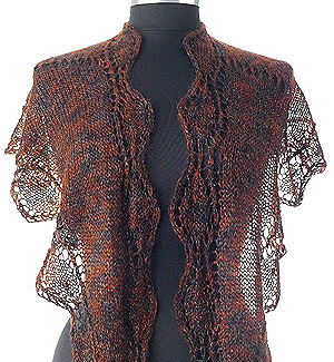 Knitting Pattern 265 Undulating Leaves Shawl from Artyarns