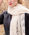 Blue Sky Brushed Suri Wrap Knitting Pattern
