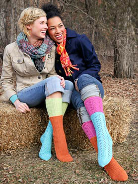 SPUD and CHLOE FINE Pattern Two-For-One Socks