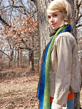 SPUD and CHLOE FINE Pattern Trifecta Scarf