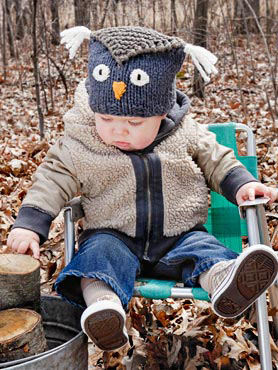SPUD and CHLOE OUTER Pattern Hoot Hat