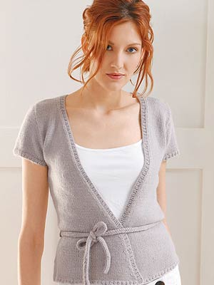 Blue Sky Suri Merino Pattern Tie Sweater