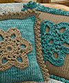 Flower Pillow Knitting Pattern from Blue Sky Alpacas