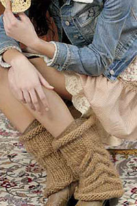 Cabled Legwarmer Knitting Pattern