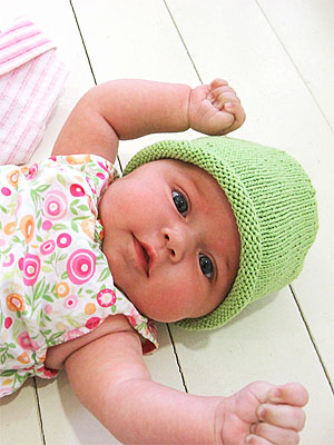 Blue Sky Patterns - Simple Baby Hat (FREE KNITTNG PATTERN)