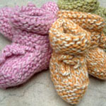 super easy baby booties free knitting pattern