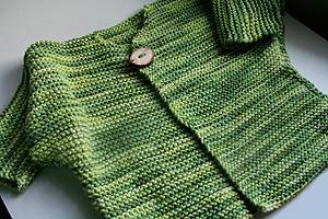 Cotton Cardigan Knitting Pattern : Free Knitting Patterns One Button Cardigan