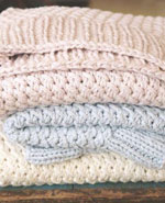 knitting patterns for baby blankets, shawls and throws