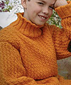 roll neck kids sweater pattern