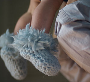 mac and me knitting pattern 117 Natalies Slippers