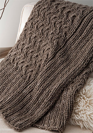 mac and me knitting pattern 113 Outer Throw