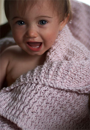 mac and me knitting pattern 116 Phoebes Crib Blanket