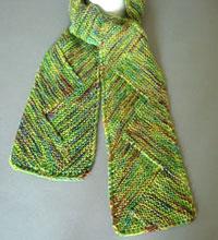 Artyarns Knitting Patterns Zigzag Modular Scarf