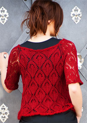 Artyarns I203 Top Down Lace Cardigan