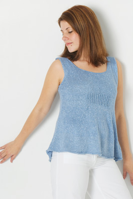 Skacel Urban Silk A-Line Tank Knitting Pattern