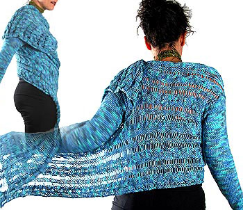 Knitting Pattern - sweet cropped ballet-wrap cardigan from