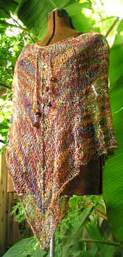 Knitted Lace Poncho Pattern