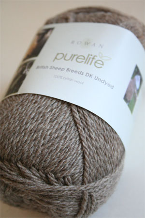 Pure Life British Sheep Breeds Mid Brown Blue Faced Leicester DK Undyed from Rowan Yarns