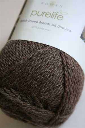 Pure Life British Sheep Breeds Brown Blue Faced Leicester DK Undyed from Rowan Yarns