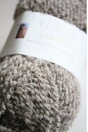 Pure Life Fine Boucle by Rowan Yarn in Light Brown Masham