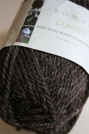 Rowan Pure Life British Sheep Breeds - Chunky Undyed in 953 Dark Grey Welsh