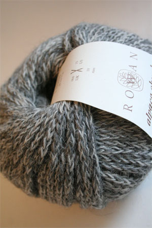 Alpaca Chunky yarn from Rowan Yarns in 78 Heron