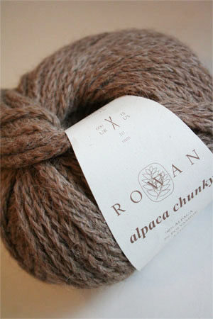 Alpaca Chunky yarn from Rowan Yarns in 71 Sparrow