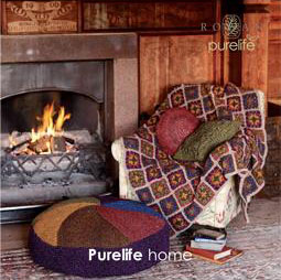 A collection of 16 designs for the home by Marie Wallin using the Purelife British Sheep Breeds yarn range.  This brochure showcases a wonderful collection of rugs, throws, table mats and cushions in different shapes and sizes.
