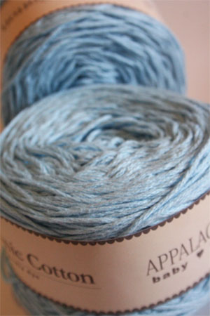 Appalachian Baby Organic Sport Weight Yarn in Baby Blue